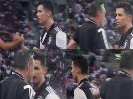 Cristiano Ronaldo não gostou de ser subsistido. CIDiretta