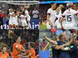Estas son las cuatro semifinalistas de Francia 2019. EFE/AFP