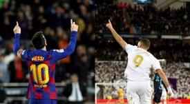 Leo Messi e Karim Benzema são os dois maiores goleadores do atual Campeonato Espanhol. EFE