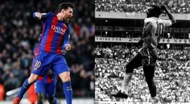 Messi-Pelé: a contagem regressiva já começou. EFE/Varios