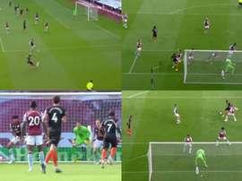 Fora de casa, o Chelsea derrotou o Aston Villa por 2 a 1. Capturas/DAZN