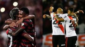 Posibles formaciones del Flamengo vs River. EFE/Archivo