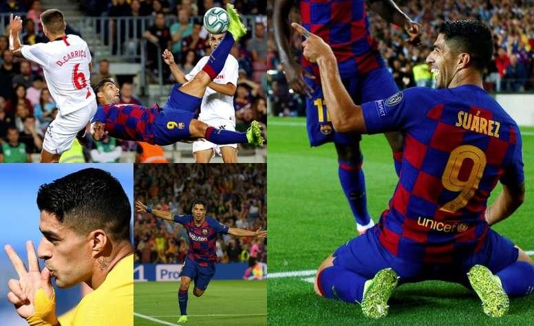Luis Suarez had an amazing week. EFE/AFP