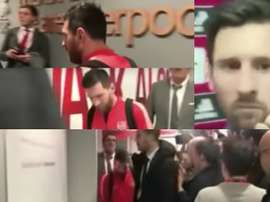 Messi saiu de Sevilha cabisbaixo depois da derrota na Taça. Capturas/AS