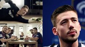Lenglet habló de la vida de un deportista profesional. FCBarcelona/AFP