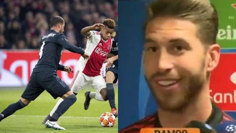 Sergio Ramos no jugará el partido de vuelta en el Bernabéu. EFE/Mega
