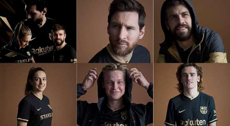 A nova camisa de visitante do Barcelona. FCBarcelona
