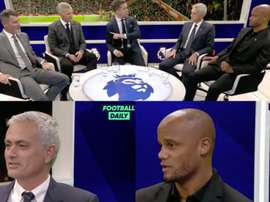 Mourinho joked with Vincent Kompany. Capturas/FootballDaily