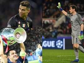 Cristiano a battu Xavi et pourrait rattraper Casillas. AFP