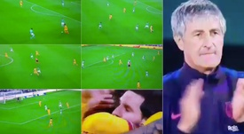 El gol de De Jong rozó la perfección. Capturas/MovistarLaLiga