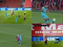 Arturo Vidal, Barca's first post-pandemic scorer. Screenshot/Movistar/LaLiga