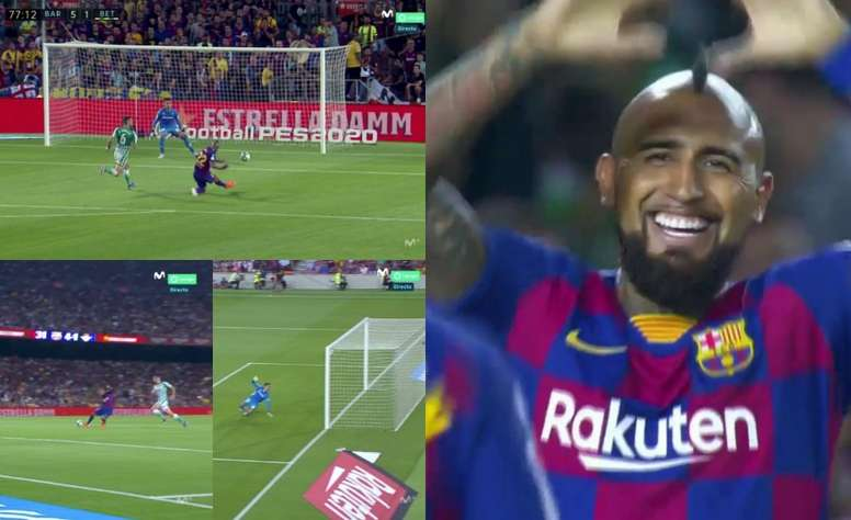 Arturo Vidal a marqué le but du 5-1. Captures/MovistarLaLiga