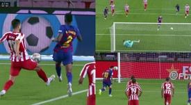 Leo Messi scored a lovely penalty kick to bring up his 700. Capturas/MovistarLaLiga