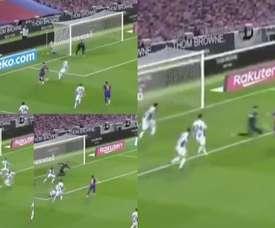 Après deux cartons rouges, Suárez ouvre le score ! Capturas/MovistarLaLiga