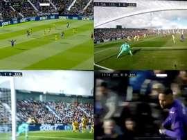 En-Nesyri donne l'avantage à Leganés face au Barça. Captures/BeINSports