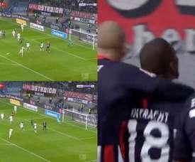 Imágenes del golazo de Almamy Touré. Captura/BeINSports