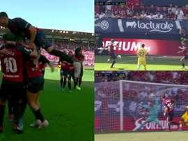 Roberto Torres gave Osasuna a shock lead at El Sadar. MovistarLaLiga