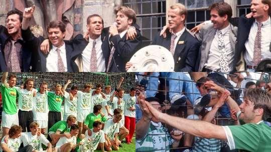 Collage con imágenes del Werder Bremen campeón en la temporada 1992-93. Picture-alliance/SvenSimon