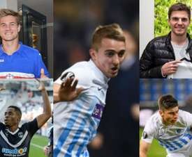 Andersen, Kamano, Trossard, Hoffmann y Malinovsky han empezado genial. AFP/EFE/Clubes