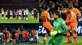 Alemania, España y Holanda son tres selecciones camino de su renovación. AFP/EFE