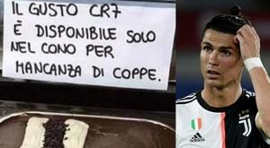 Un glacier de Naples se moque de Cristiano Ronaldo. IlMattino/AFP