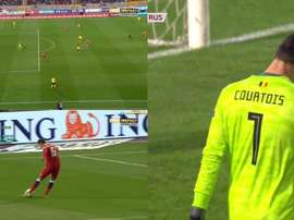 The Belgian keeper made a horrendous error against Russia. MatchPremier