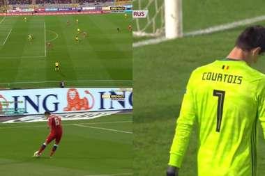 The Belgian keeper made a horrendous error against Russia. MatchPremier