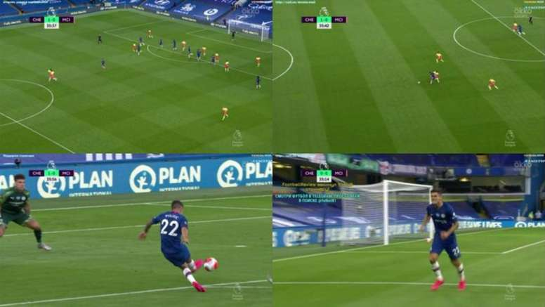 Mendy made two mistakes in Pulisic's goal for Chelsea v Man City. DAZN
