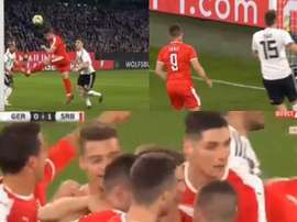 Jovic estreou-se a marcar pela Sérvia diante da Alemanha. LEquipe