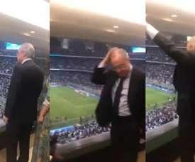 Les réactions de Florentino lors de la séance de TAB. Twitter/Ramon_AlvarezMM