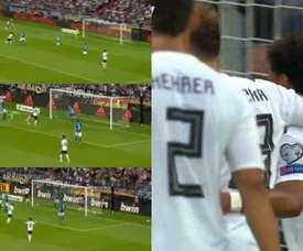 Sané para Gnabry y gol de Alemania. RTL