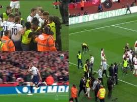 Il y a eu un peu de tout lors de ce Arsenal-Tottenham. Capture/ESPN