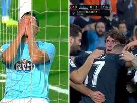 Cabral was unlucky to concede the goal. Captura/Movistar