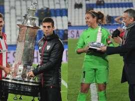 La diferencia de tamaño de los trofeos es más que notable. Twitter/AthleticClub