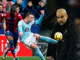 Lerma, Iago Aspas et Guardiola sont les protagonistes de ce jour-ci. BeSoccer/EFE/AFP
