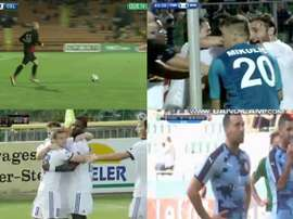 Collage con las imágenes de los primeros partidos de la Fase Previa de la Champions League.