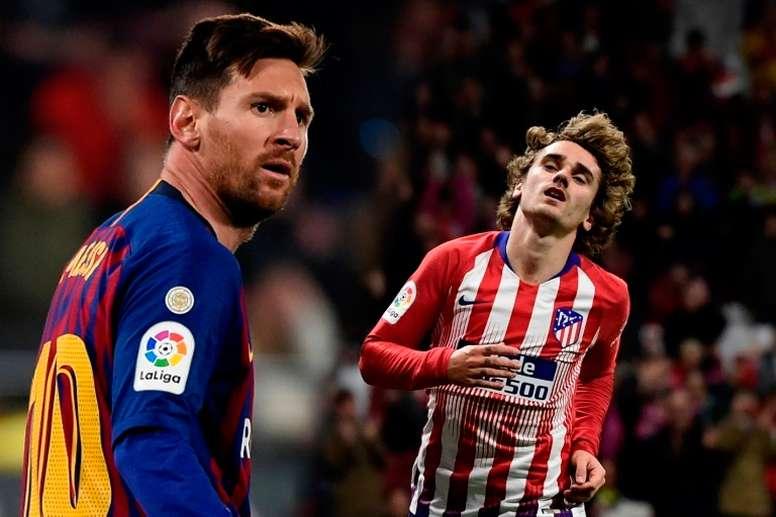 ¿Dónde encaja Griezmann en el puzle de Messi? AFP