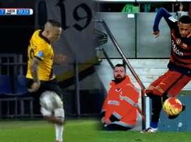 Angeliño se disfrazó de Neymar para arrancar una ovación al Rat Verlegh Stadion. BeSoccer