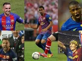 Montage des derniers héros du Barça en finales de Coupe. EFE/AFP/FCBarcelona
