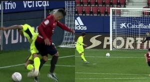 Joao Félix marcó de penalti. Capturas/MovistarLaLiga