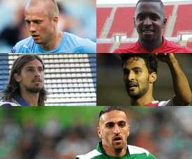 Collage con Tiago Pinto, Miguel Lopes, Abdoul Sissoko, Daniel Larsson y Hélder Barbosa.
