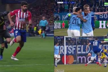 El VAR, muy presente en ambos estadios durante el primer tiempo. Futbol1