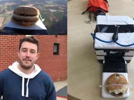 ¿Por qué mandar un hamburguesa al espacio? Porque se puede. Twitter/ColU_Official