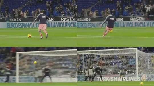 Messi found his range in the pre-match warm-up. FCBarcelona