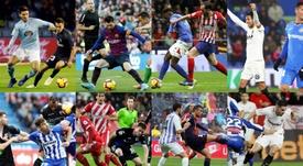 Plusieurs images de la 12ème journée de Liga en Espagne. EFE