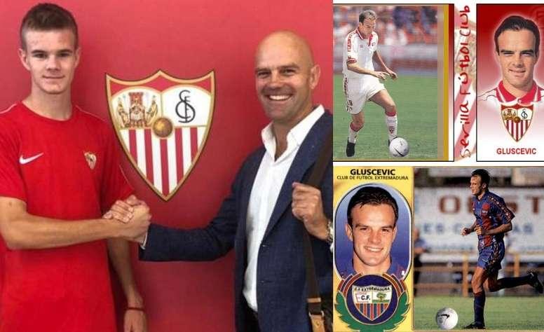 Gluscevic continuará con la saga familiar. SevillaFC/EdicionesEste