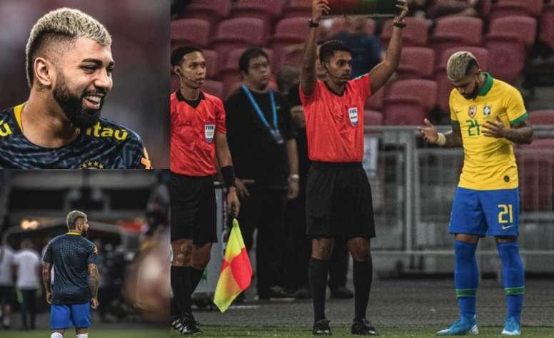 Gabigol por fin regresó con Brasil. Twitter/Gabigol