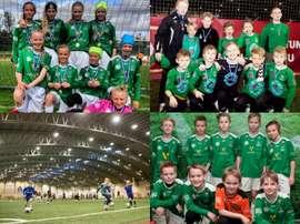 Collage con varios equipos de las categorías inferiores del Breidablik.