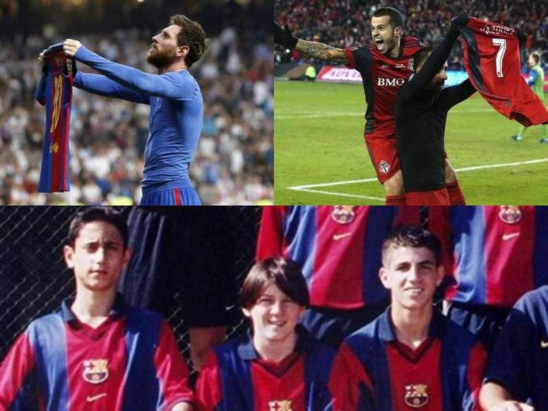 Collage con Víctor Vázquez y Leo Messi. EFE/AFP/Agencias