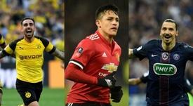 Alcácer, Alexis e Ibrahimovic são alguns exemplos. EFE/AFP